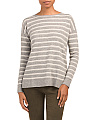 Striped Pullover Cashmere Sweater