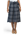 Cirnkle Plaid Skirt