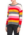 Juniors Multi Striped Sweater