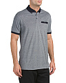 Short Sleeve Geo Polo