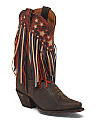 Liberty Fringe Leather Boots