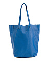 Leather Viki Shopper Tote
