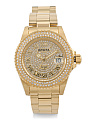 Women's Angel Crystal Dial And Bezel Bracelet Watch