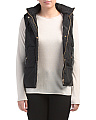 Juniors Faux Sherpa Lined Puffer Vest
