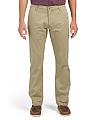 Washed Stretch Slim Tapered Khaki Pants