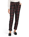 Juniors Plaid Paperbag Waist Pants