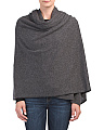 Cashmere Solid Heather Blanket Wrap