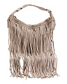 Large Suede Hobo With Fringe