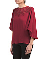 Blouse With Cape Overlay