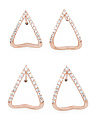 Rose Gold V Earring Collection