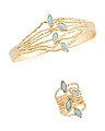 Made In Israel 14k Gold Plated Sterling Silver And Opal Collection