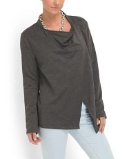 image of Cowl Neck French Terry Top