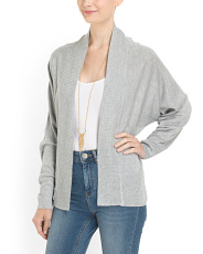 image of Rib Shawl Open Cardigan