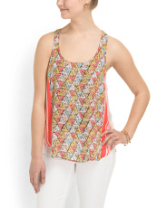 image of Border Side Hi Lo Tank Top