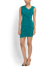 image of Eve Ruched Fitted Dress