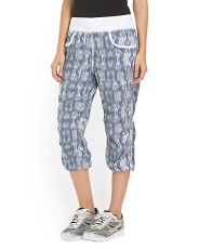 image of Ikat Print Stretch Woven Pant