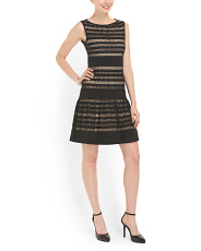 image of Crochet Overlay Dress