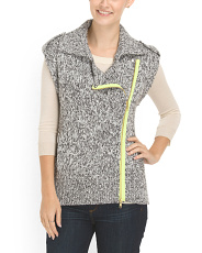 image of Contrast Trim Sweater Vest