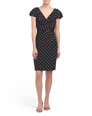 Petite Brisa Polka Dot Dress