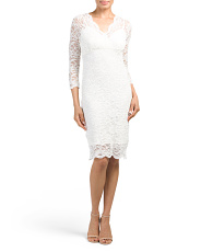 Petite Floral Stretch Lace Dress