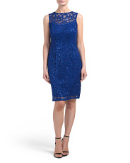 Petite Lace Dress With Sequins