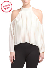 High Neck Pleated Mila Top