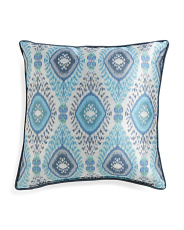 22x22 Dharti Ikat Pattern Pillow