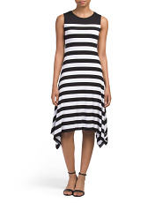 Petite Lunar Striped Dress