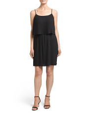 Petite Pleated Popover Tank Dress