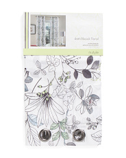 40x84 Set Of 2 Sketchbook Floral Curtains