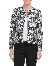 Petite Novelty Graffiti Print Jacket