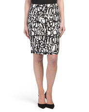 Petite Novelty Graffiti Print Skirt