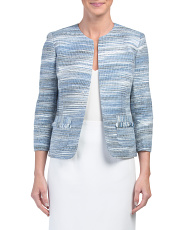 Petite Tweed Flyaway Jacket