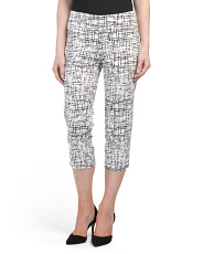 Petite Tummy Control Printed Cropped Pants