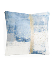 18x18 Linen Look Contemporary Pillow