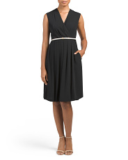 Petite Silky Midi Dress With Belt