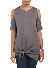 Baby French Terry Cold Shoulder Top