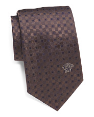 Made In Italy Basket Squares Silk Tie