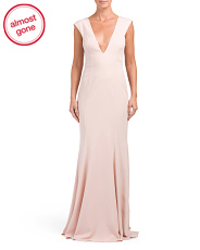 Victoria Deep V Low Back Gown