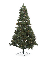 7.5ft 600ct Pre-lit Pine Artificial Christmas Tree