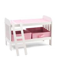 Kids Doll Bunk Bed With Ladder