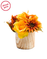 9in Faux Fall Floral Decor