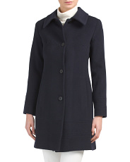 Made In USA Cashmere Wool Blend Coat