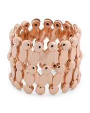 Made In Italy 14k Rose Gold Expandable Ring Into Bracelet