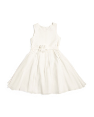 Little Girls Crinkle Chiffon Flower Girl Dress