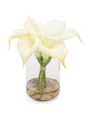 8.5in Calla Lily In Glass Vase