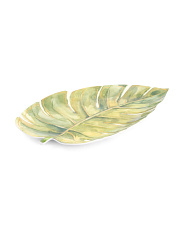 15in Outdoor Leaf Melamine Serving Platter