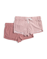 2pk Fleece Shorts