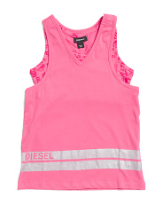 Big Girls Overlay Top With Attached Sports Bra