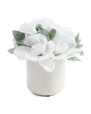 10in Magnolia In Round Ceramic Pot